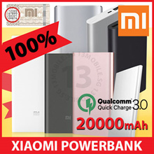 CHEAPEST!! ★ 100% AUTHENTIC ★ Xiaomi Mi PowerBank Power Bank Quick Charge QC3.0 Ultra Slim Pro