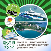 BATAM FERRY 2 WAYS TICKETS AND BATAM CITY ONE DAY TOUR
