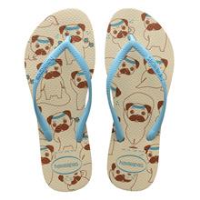 Havaianas Slim Pets Sandal Beige/Blue