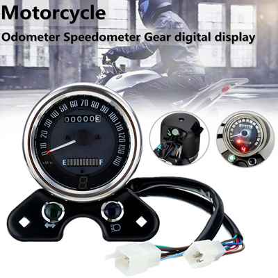 Motorcycle Odometer Speedometer Gear Digital Display For Honda CG125 Cafe  Racer