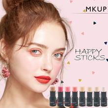 MKUP® Makeup Happy Stick Multi Functional Foundation Blusher Lipstick Contour