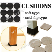 [SG] Square / Round Soft or EVA Cushions Chair Floor Furniture Protection Table Leg Pad Mat