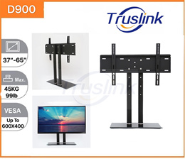 TV Table Stand/ V Base/Table Top Stand/Tempered Glass Universal TV Stand-Table Stand for 37-65 inch