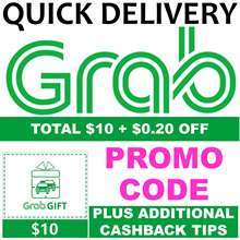 Grab Fast Delivery $10/$15/$20/$25 (Non Top Up) Promo Code + $0.20 B4