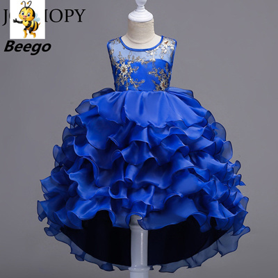 Flower Girls Dress For Wedding Pageant 2019 Summer Princess Party Baby  Dresses Tailing Children Kids