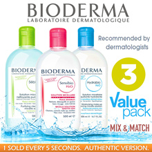 SAVE $70+ FREE Shipping! BEST-SELLING CLEANSERS N MAKEUP REMOVERS. BIODERMA | AVENE | BIFESTA