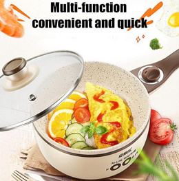 Multi-Purpose Electric Frying Pan Convenient No Need Fire Perfect for Hostel Student Tenant Office