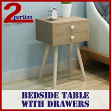 BEDSIDE TABLE WITH DRAWER / LIVING ROOM /  STUDY ROOM / FURNITURE / COFFEE TABLE / CHAIR