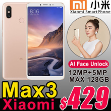 2018 Authentic Xiaomi Mi Max 3 Smartphone Big 6.9inch 4GB/6GB+64GB/128GB 4G LTE Mobile Phone Max3