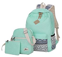 fbe125df3634 COUPON  ▷ 1 Shop Coupon◁ Veenajo Casual Lightweight Canvas Backpacks Cute  Dot Bookbag Shoulder Bag School
