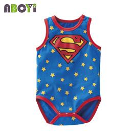 0b050995dfb2a Summer Cartoon 100% Cotton Batman Baby Boy Rompers Superman Baby Romper  Spideman Newborn Girl Baby