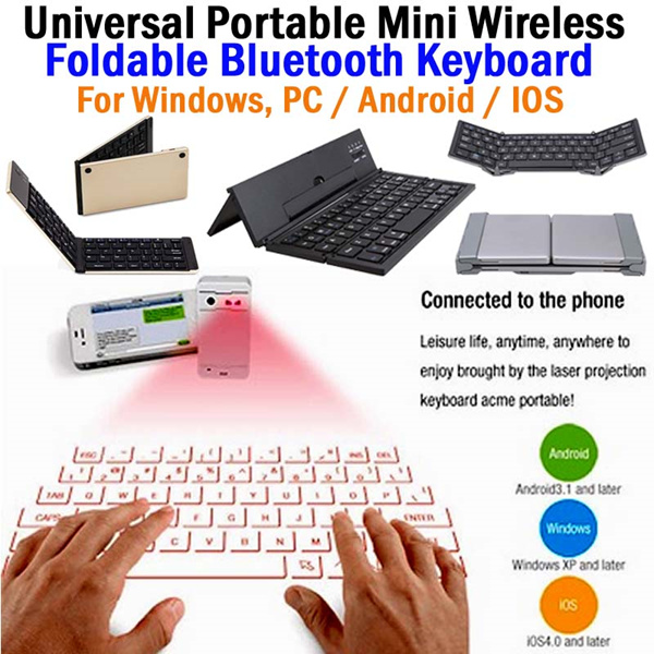Universal Portable Mini Wireless Foldable Bluetooth Keyboard for Windows Deals for only Rp599.000 instead of Rp599.000