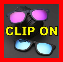 Clip On SunGlass Trendy Slip On Overlay SunGlasses Glasses Clip-on Spectacle Wear over