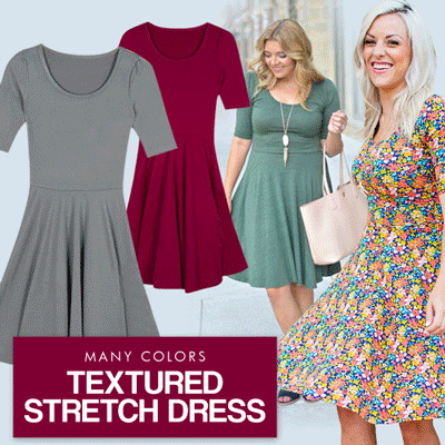 The-Fahrenheit Nicole Textured Stretch Dress Deals for only Rp59.000 instead of Rp59.000