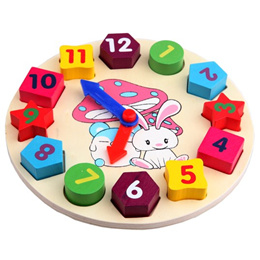 Wooden Learning Clock - Kids early childhood development/educational/toys/perfect as goodies/birthda