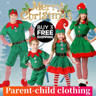 ac5fb99aaaa2e 【Buy 3 free shipping!!!】Christmas costume childrens cosplay parent-child  costume festival adult gift
