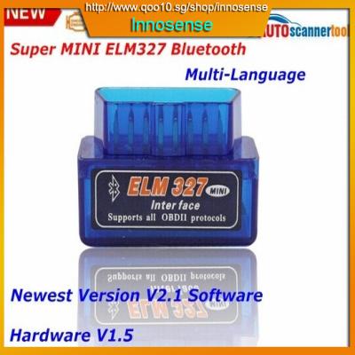2015 New Arrival Super MINI ELM327 OBD2 V2 1 Software Professional  Diagnostic Tool Elm 327 Bluetooth