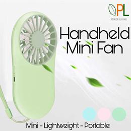 PL Portable Fan Handheld USB Mini Fan Pocket Rechargeable Fan Handy Small Adjustable Fan Cooling Fan