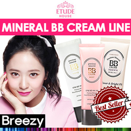 BREEZY ★ [ETUDE HOUSE] Mineral BB Cream Line / Precious Mineral Beautifying Block Cream / Moist