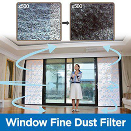 [Made in Korea]Window Fine Dust Filter / Removing fine dust/Strong dust collecting power/UV