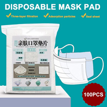 Surgical mask pad/N95 mask pad/Adult mask pad 100pcs Mascherine Antivirus Disposable Filter Pad Mask