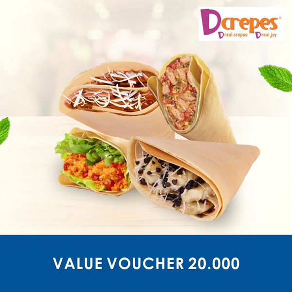 [FOOD] DCrepes Value 20.000 Deals for only Rp9.900 instead of Rp49.500