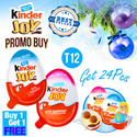 CUCI GUDANG (BUY 1 GET 1 FREE = 24 PCS ) KINDER JOY - HEALTHY SNACKS AND FUN FOR CHILDREN T12 (12X20GRAM)FOR BOYS AND GIRLS EDITION