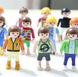 10Pcs/lot 5cm Playmobil PVC Blocks Figures Mini Toys Chilren Girls Boys Figures Kids Gifts Toys For