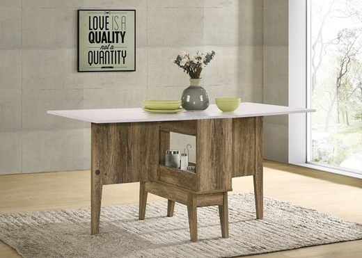 Foldable Dining Table Drop Leaf