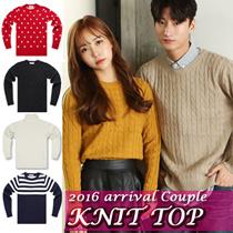★FREE SHIPPING★Couple knit WOMEN.MEN SWEATER /100% Made in KOREA   [Top Shop]