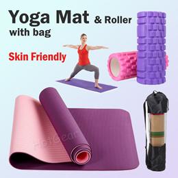 【Fast Delivery】Premium Quality Yoga Mat ◇ TPE Yoga Mats / Towel Foam Roller