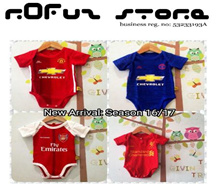 BABY SOCCER ROMPER Manchester United Arsenal Liverpool Chelsea Real Madrid baby dress jumper