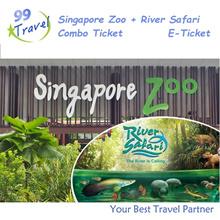 【99 TRAVEL】Singapore Zoo (tram ride) +River Safari (boat ride) E-ticket 新加坡日间动物园电子票+河川生态园+船票
