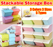 STACKABLE STORAGE BOX WITH FRONT OPENING/PLASTIC STORAGE CONTAINER BOX