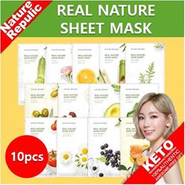▶1-DAY PRICE◀[Nature Republic] Real Nature Sheet Mask 10pcs / Aloe Soothing Gel