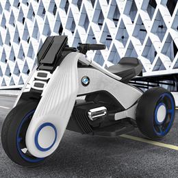 儿童电动摩托车 玩具小汽车 男孩女孩宝宝超大号三轮车充电可坐人 3-9岁儿童使用