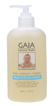 GAIA NATURAL BABY Baby Hair & Body Wash  500ml