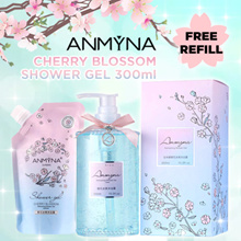 [TRENDING 2017]Worth $59.90 Anmyna安米娜 Cherry Blossom Refreshing SHOWER GEL 300ml + FREE Refill Gel