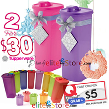 TUPPERWARE Xmas Gift Fridge Water Bottle 2L / Strainer / Pouch / Mini Pour / 2L ECO Bottle