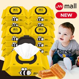 ❤ Korea No.1 ❤ Sense Honey Bee Wet Wipes Cap Type 100pcs x 10 packs