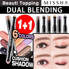 ★1+1★[MISSHA] Dual Blending Cushion Shadow(6 Colors) / Eye Shadow / Skinny Brow Pencil / Eye Glitter