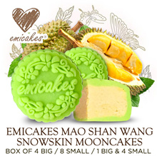 Mao Shan Wang Durian Mooncake | 4 Big | 8 Small | 1 Big n 4 Small