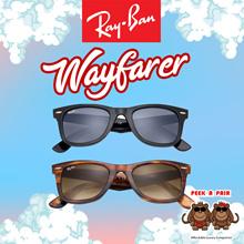 RayBan 0RB2140F Wayfarer Classic Sunglasses. [Peek-a-Pair]