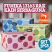 [FREE SHIPPING JABODETABEK] Get 3pcs Funika 13163 Rak Kain Serbaguna - Polkadot