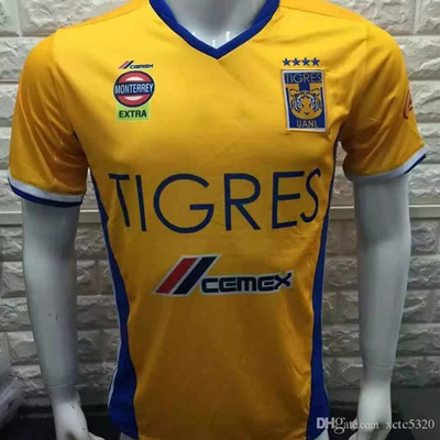 2731db615a0 2017 Thai Quality Tigres UANL Jersey 2016 17 Mexico Club Tigers Soccer  Jersey Home Yellow