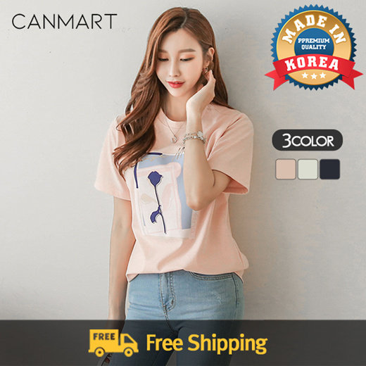 [S$37.77](▼50%)[canmart][CANMART] Nrose T-shirt C061722