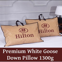 Newly Upgraded Premium Hotel Pillow *Goose Down + Feather *1300g *650 Fill Power