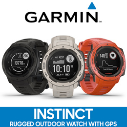 [MAKE $318] Garmin Instinct Rugged Outdoor Smart Watch with GPS