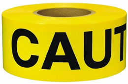 CW Yellow Caution Barricade Tape 3 X 1000 ft  Bright Yellow with a Bold Black Print for High Visibil