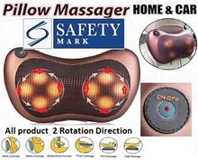 Shoulder neck Infrared Heating Massage Pillow Home Car Shiatsu Massager